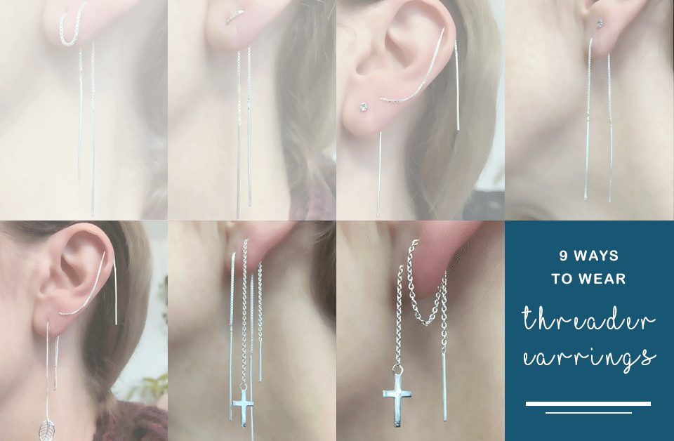 Ways to wear threader earrings
