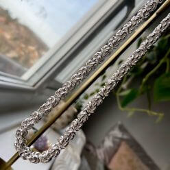 Sterling silver necklace - hanging view