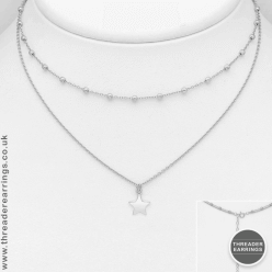 Sterling silver ball and star choker