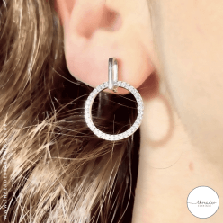 925 circle earrings
