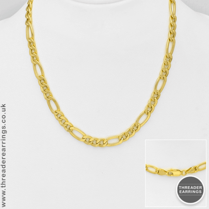 Sterling silver gold plated figaro chain