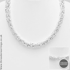 Sterling silver rolo necklace
