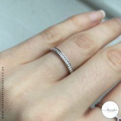 925 Sterling silver eternity style ring